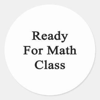 Aliste para la clase de la matemáticas