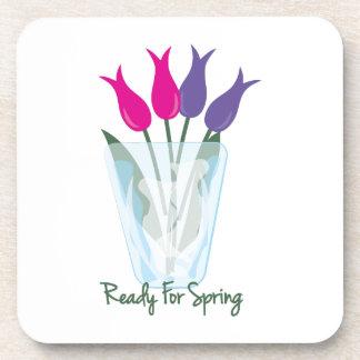Aliste para la primavera posavasos de bebidas