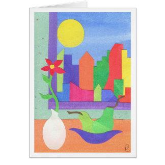 Aliste para la primavera tarjeta de felicitación
