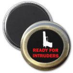 Aliste para la seguridad del arma de los intrusos imán para frigorífico