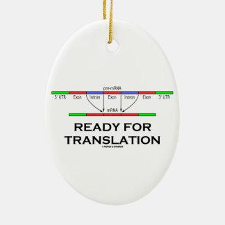 Aliste para la traducción (el pre-mRNA en el mRNA) Adorno Navideño Ovalado De Cerámica