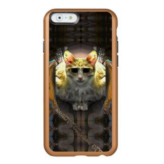 Aliste para sacan Cat1 la caja fresca del iPhone 6 Funda Para iPhone 6 Plus Incipio Feather Shine