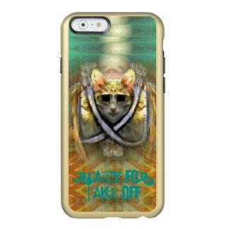 Aliste para sacan el gato fresco funda para iPhone 6 plus incipio feather shine