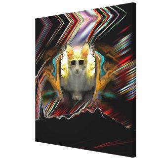 Aliste para sacan la impresión envuelta gato impresiones de lienzo