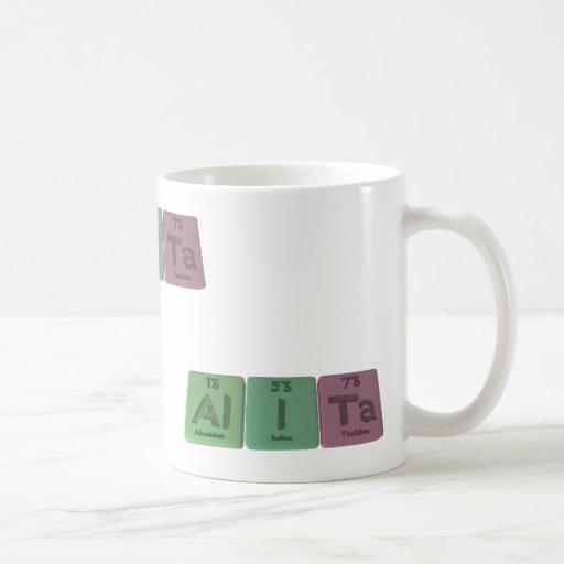 Alita como tantalio de aluminio del yodo taza de café