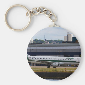 Alitalia  Embraer ERJ-190 London City Airport Basic Round Button Keychain