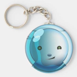 AliunzAmongUs Blu Basic Round Button Keychain