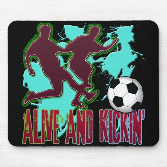 ALIVE AND KICKIN' SOCCER MOUSE PAD