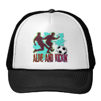 ALIVE AND KICKIN' SOCCER TRUCKER HAT