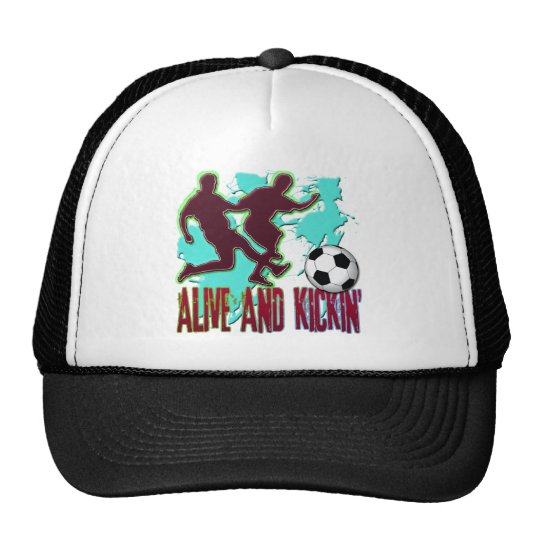 ALIVE AND KICKIN' SOCCER TRUCKER HAT