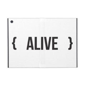 Alive - Bracketed - Black and White iPad Mini Cover