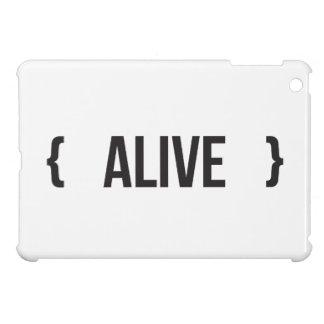 Alive - Bracketed - Black and White iPad Mini Case