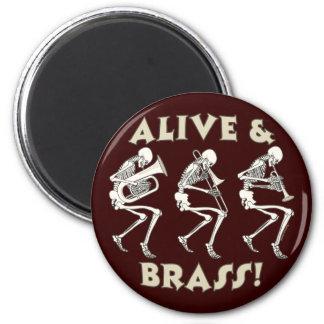Alive Brass Magnets