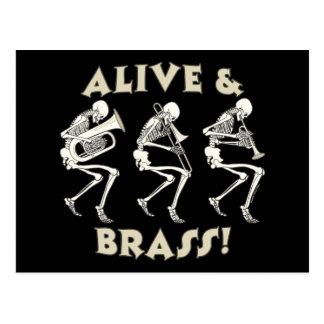 Alive & Brass! Postcard
