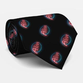Alive concept. neck tie