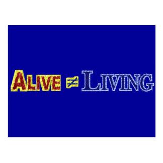 Alive Does Not Equal Living Text Design Postcard