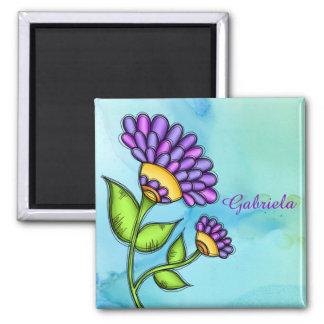 Alive Doodle Flower Magnet