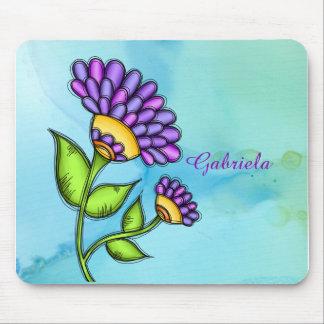 Alive Doodle Flower Mousepad