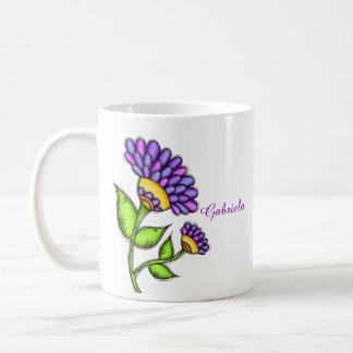 Alive Doodle Flower Mug