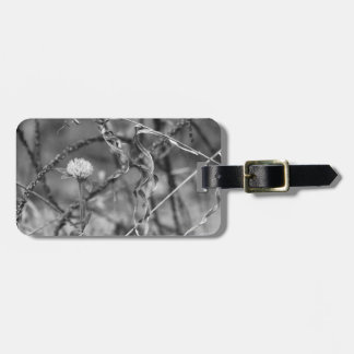 Alive Flower, Dead LEaf Black and White Tag For Luggage