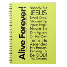 Alive Forever1 Christian Notebook