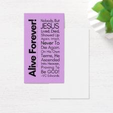 Alive Forever1 Lavender Christian Cards
