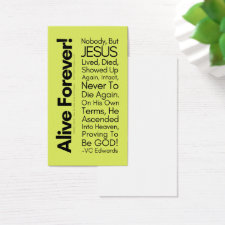 Alive Forever1 Lime Christian Cards