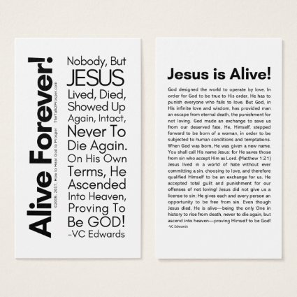 Alive Forever 2.0 Christian Cards