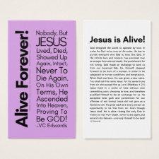 Alive Forever 2.0 Lavender Christian Cards