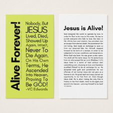 Alive Forever 2.0 Lime Christian Cards