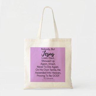 Alive Forever Christian Lavender Tote Bag