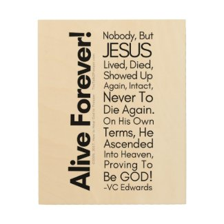 Alive Forever Christian Wood Wall Decor