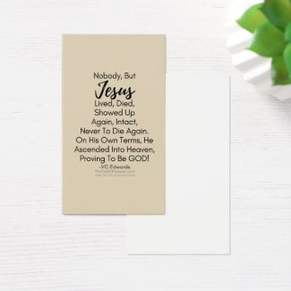 Alive Forever Tan Christian Cards