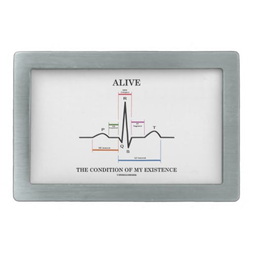 Alive The Condition Of My Existence (ECG/EKG) Belt Buckle