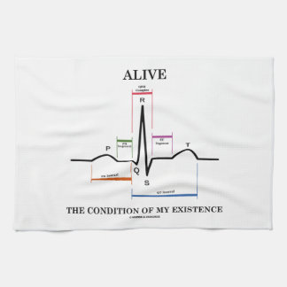 Alive The Condition Of My Existence (ECG/EKG) Hand Towels
