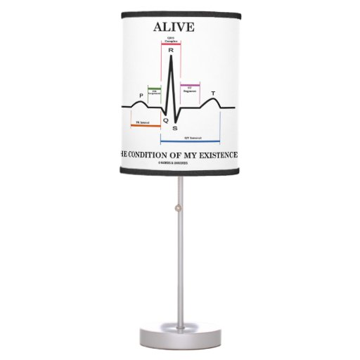 Alive The Condition Of My Existence (ECG/EKG) Lamp