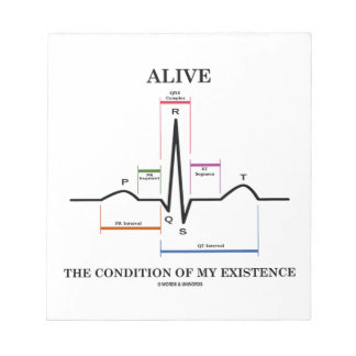 Alive The Condition Of My Existence (ECG/EKG) Notepad