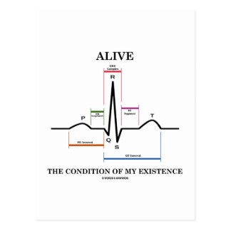 Alive The Condition Of My Existence (ECG/EKG) Postcard