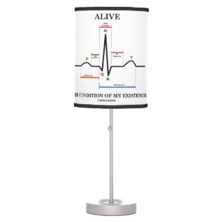 Alive The Condition Of My Existence (ECG/EKG) Table Lamp