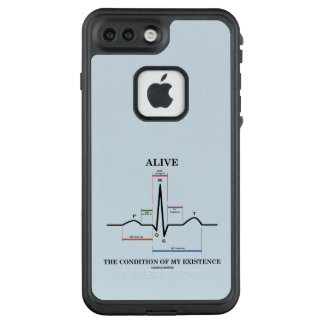 Alive The Condition Of My Existence ECG Heartbeat LifeProof FRĒ iPhone 7 Plus Case