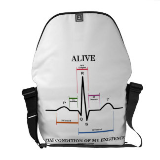 Alive The Condition Of My Existence (Heartbeat) Messenger Bag