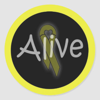 alivesticker classic round sticker