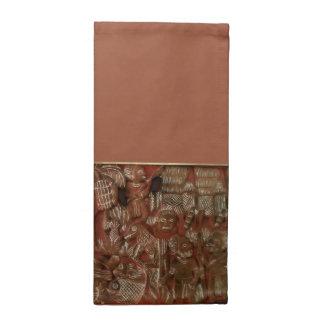 Alivio azteca del arte servilletas