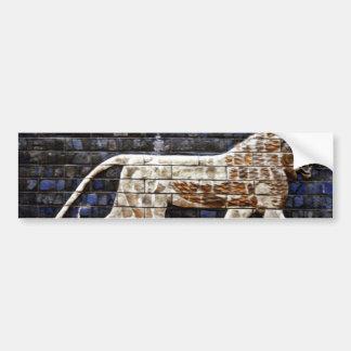 Alivio de Bas, puerta del león de Ishtar - Estambu Etiqueta De Parachoque