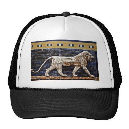 Alivio de Bas, puerta del león de Ishtar - Estambu Gorro De Camionero