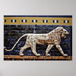 Alivio de Bas, puerta del león de Ishtar - Estambu Posters