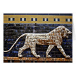 Alivio de Bas, puerta del león de Ishtar - Estambu Tarjeton