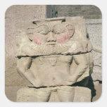Alivio de dios egipcio del hogar, Bes Pegatinas Cuadradas