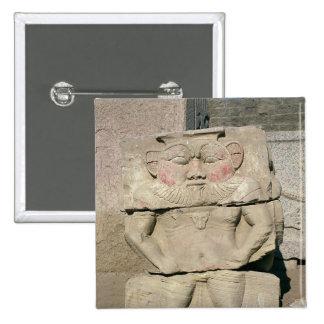 Alivio de dios egipcio del hogar, Bes Pin Cuadrada 5 Cm