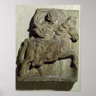 Alivio de Epona, diosa Gaulish Poster